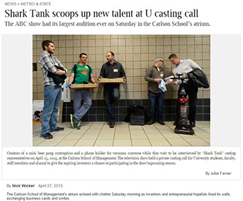 Scienz, makers of Mini Beer Pong, audition for ABC's Shark Tank.